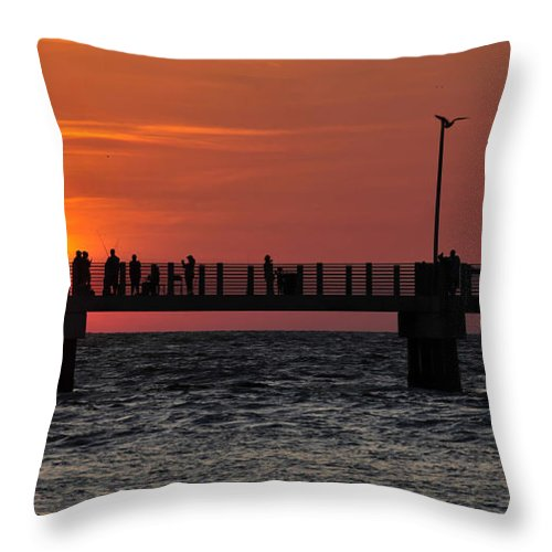 Fine Art Photography Throw Pillow featuring the photograph Days End by David Lee Thompson