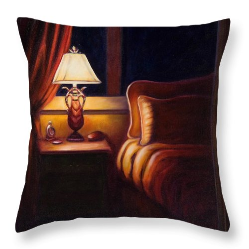 Still Life Throw Pillow featuring the painting Days End by Shannon Grissom