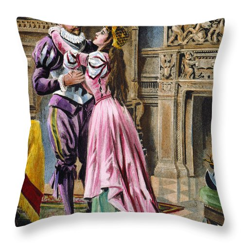1539 Throw Pillow featuring the photograph De Soto & Isabella, 1539 by Granger