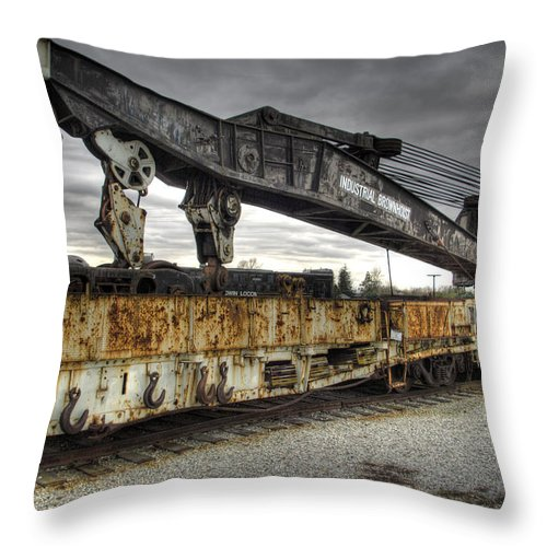 Hdr Throw Pillow featuring the photograph Dead Lift by Scott Wyatt