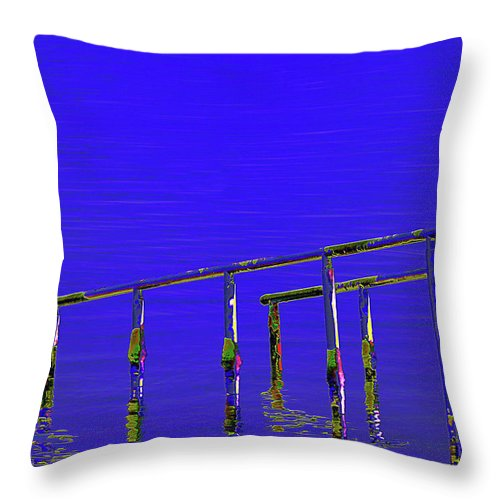 Dead Sea Throw Pillow featuring the digital art Dead Sea by Marc Dettloff
