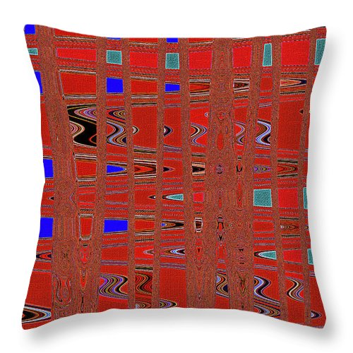 Dead Tree Abstract #4 Throw Pillow featuring the digital art Dead Tree Abstract #4 by Tom Janca