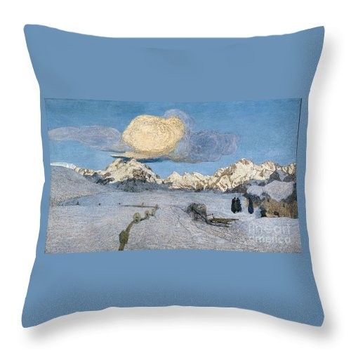 Giovanni Segantini Throw Pillow featuring the painting Death by MotionAge Designs