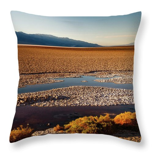 Death Valley Throw Pillow featuring the photograph Death Valley California by Mountain Dreams
