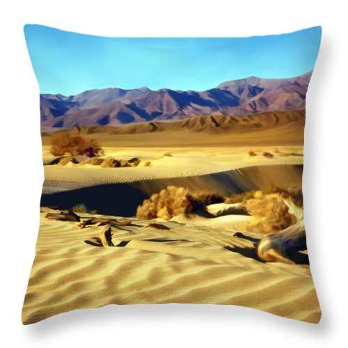 Death Valley Throw Pillow featuring the photograph Death Valley by Kurt Van Wagner
