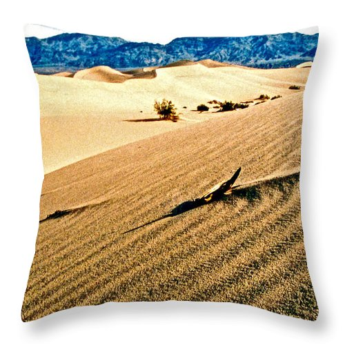 Sand Throw Pillow featuring the photograph Death Valley National Park by Jerome Stumphauzer