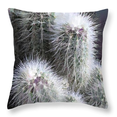 Deception It Looks So Soft And Fluffy Throw Pillow For Sale By Elaine Plesser