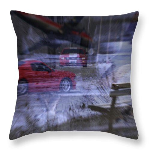 Life Throw Pillow featuring the digital art Deceptions by Cathy Beharriell