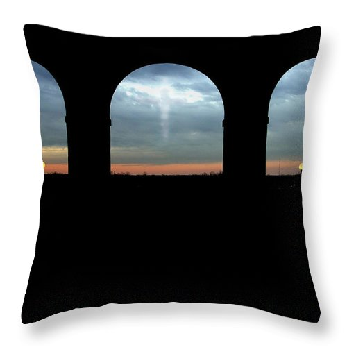 Arch Throw Pillow featuring the photograph Decisions by Albert Stewart