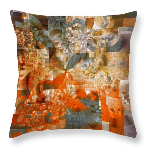 Fractal Throw Pillow featuring the digital art Deco Bubbles by Richard Ortolano