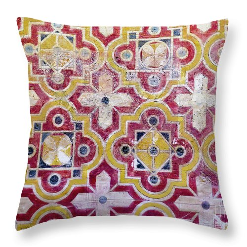 Islamic Throw Pillow featuring the photograph Decorative Tiles Islamic Motif by Ami Siano