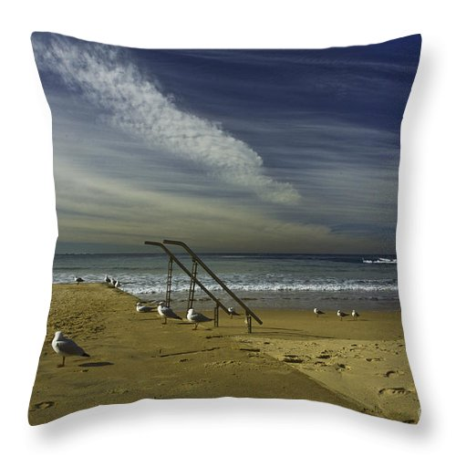 Beach Throw Pillow featuring the photograph Dee Why Beach Sydney by Sheila Smart Fine Art Photography