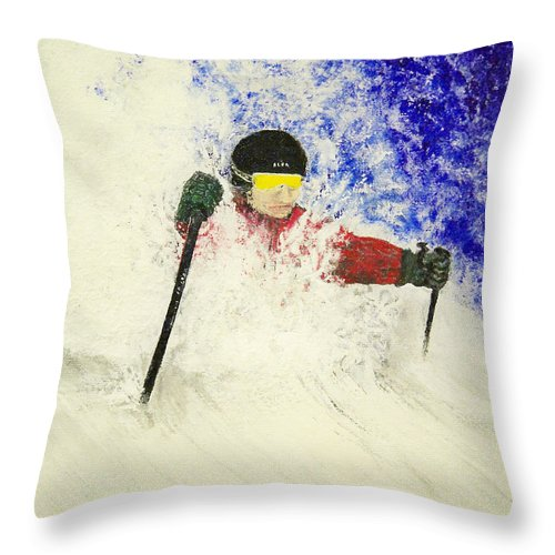 Utah Throw Pillow featuring the painting Deeeep by Michael Cuozzo