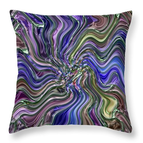 Abstract Throw Pillow featuring the digital art Deep Blue by Mark Sellers