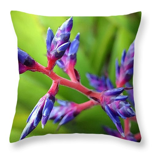 Flower Throw Pillow featuring the photograph Deep Blue by Mary Haber