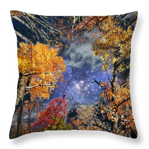 Deep Space Throw Pillow featuring the photograph Deep Canopy by Dave Martsolf