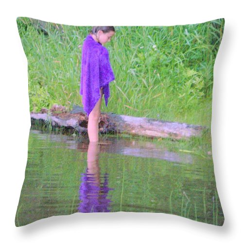 Purple Throw Pillow featuring the photograph Deep In Thought by Jackie Mueller-Jones