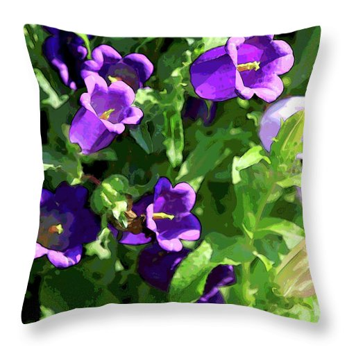 Deep Purple Throw Pillow featuring the photograph Deep Purple by Suzanne Gaff
