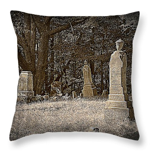 Graveyard Throw Pillow featuring the photograph Deep Sleep by Scott Ward