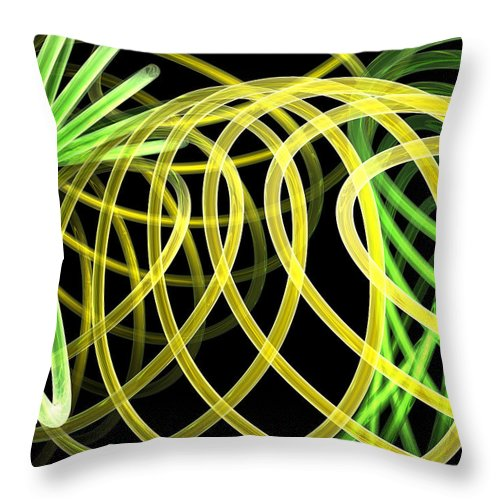 Green Throw Pillow featuring the digital art Deep Trance by Scott Piers
