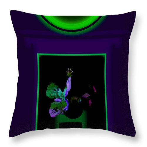 Palladian Throw Pillow featuring the painting Deep Violet by Charles Stuart