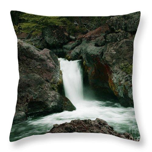 Creek Throw Pillow featuring the photograph Deer Creek Falls by Peter Piatt