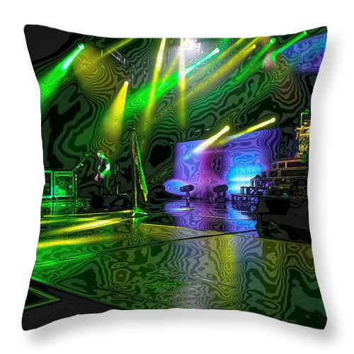 Def Leppard At Saratoga Springs 3 Throw Pillow featuring the photograph Def Leppard At Saratoga Springs 3 by David Patterson