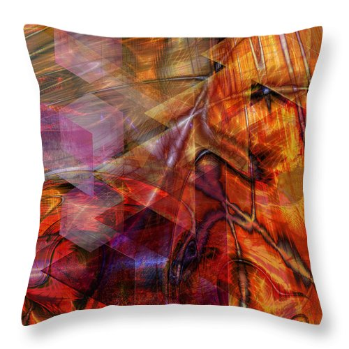 Deguello Sunrise Throw Pillow featuring the digital art Deguello Sunrise by John Beck