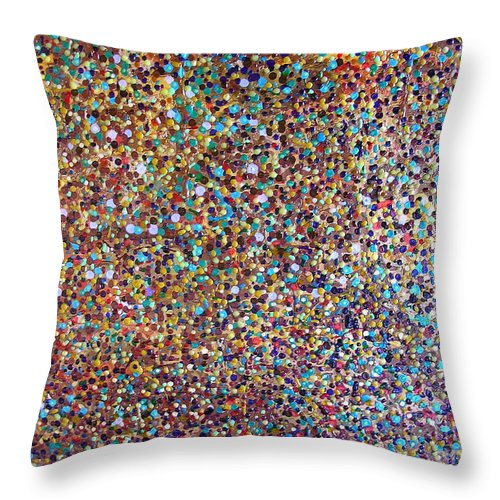 Deja Vu Throw Pillow featuring the painting Deja Vu by Dawn Hough Sebaugh