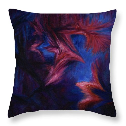 Abstract Throw Pillow featuring the painting Deja Vu by Rachel Christine Nowicki