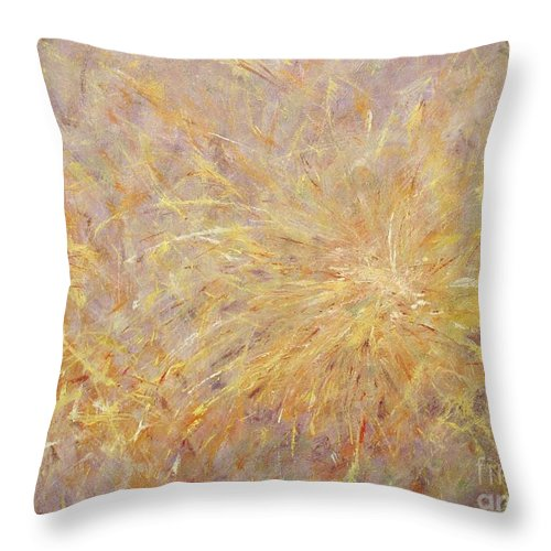 Delight Throw Pillow featuring the painting Delight by Anna Starkova