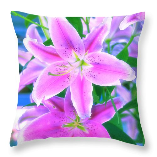 Flowers Throw Pillow featuring the photograph Delightful by Charuhas Images