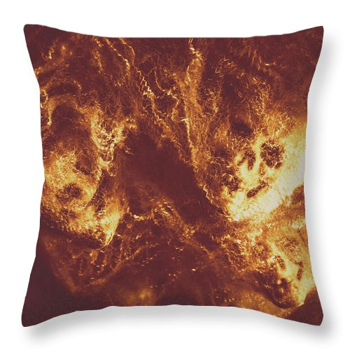Hell Throw Pillow featuring the photograph Demon Hellish Nightmare by Jorgo Photography - Wall Art Gallery