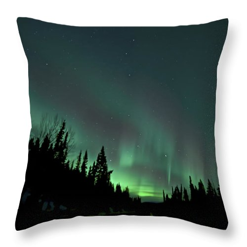 Aurora Borealis Throw Pillow featuring the photograph Dempster Highway Lights by Craig Voth