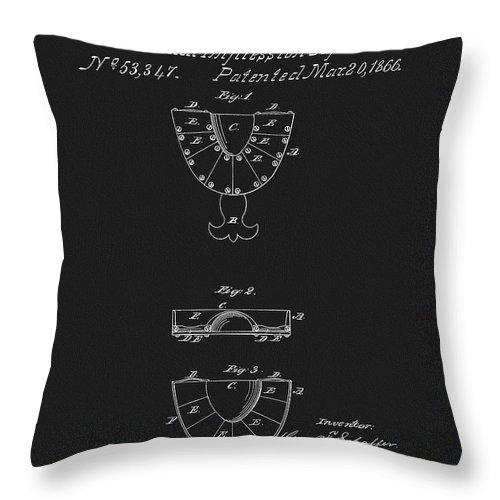 Dental Mold Patent Throw Pillow
