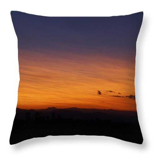 Sunset Throw Pillow featuring the photograph Denver Co Sunset Xx by Jacqueline Russell