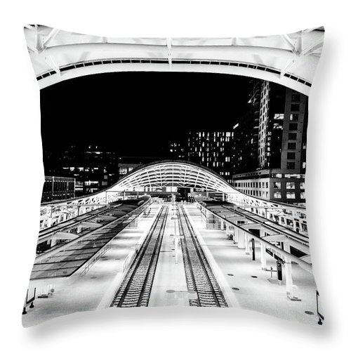 Architecture Throw Pillow featuring the photograph Denver's Union Station by Rand