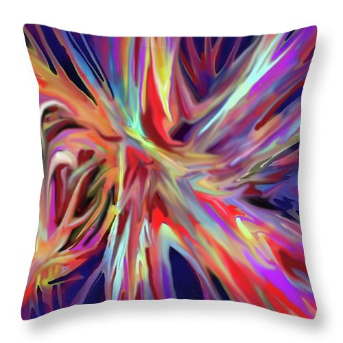 Abstract Throw Pillow featuring the digital art Depth And Color by Ian MacDonald