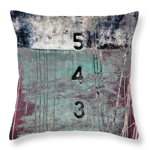 Depth Perception Throw Pillow featuring the mixed media Depth Perception by Carol Leigh