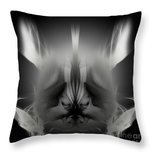 Clay Throw Pillow featuring the digital art Descent by Clayton Bruster