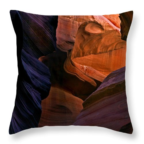 Sandstone Throw Pillow featuring the photograph Desert Bridge by Mike Dawson