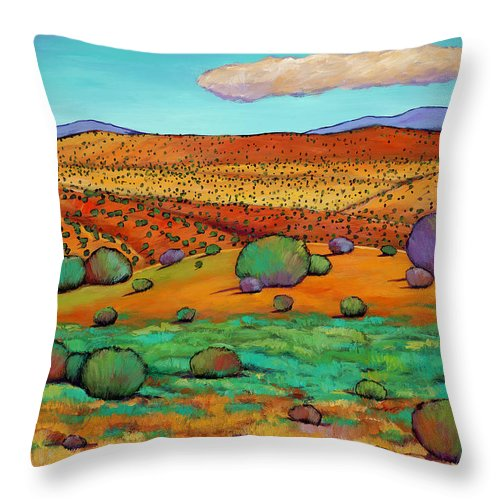 New Mexico Desert Throw Pillow featuring the painting Desert Day by Johnathan Harris