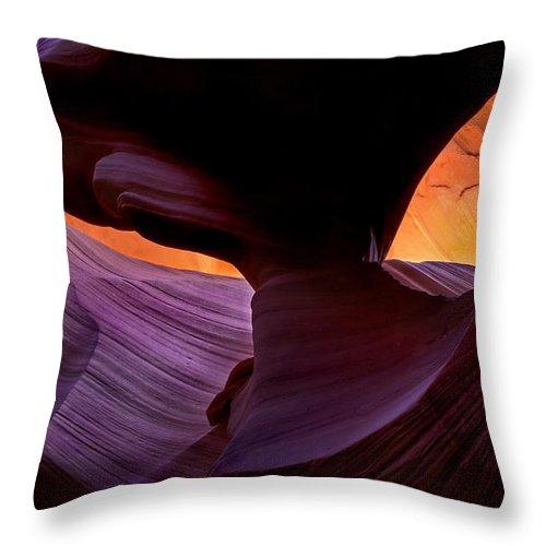 Eye Throw Pillow featuring the photograph Desert Eye by Mike Dawson
