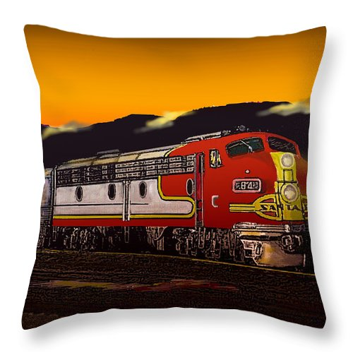 Trains Throw Pillow featuring the digital art Desert Palms by J Griff Griffin