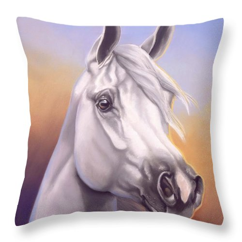 Arabian Throw Pillow featuring the painting Desert Prince by Howard Dubois