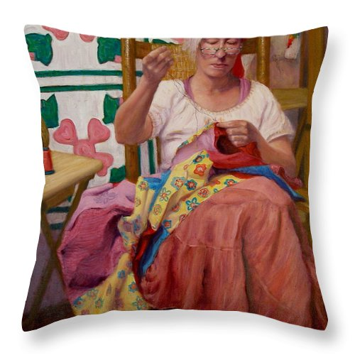 Realism Throw Pillow featuring the painting Desert Rose by Donelli DiMaria
