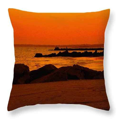 Landscape Throw Pillow featuring the photograph Desert Skies by Kendall Eutemey