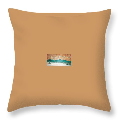 Desertscape Throw Pillow featuring the painting Desert Splendor by Marco Morales