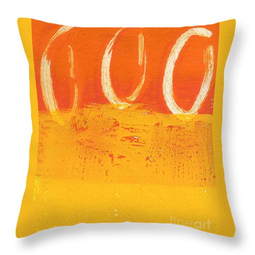 Abstract Throw Pillow featuring the painting Desert Sun by Linda Woods