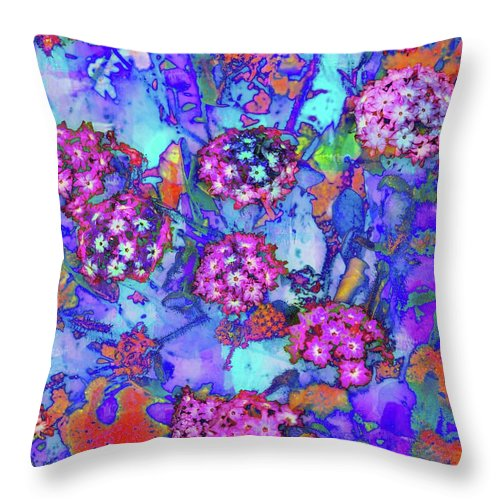 Art Throw Pillow featuring the photograph Desert Vibe Bloom by Michael Hope